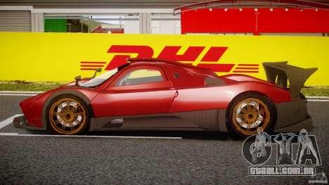Pagani Zonda R para GTA 4 esquerda vista