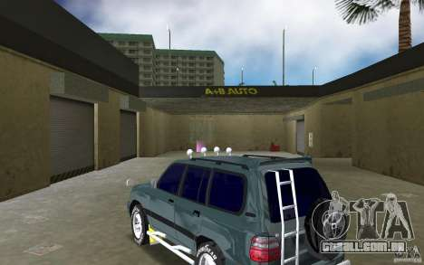 Toyota Land Cruiser 100 para GTA Vice City vista traseira esquerda