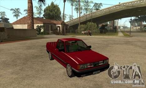 VW Saveiro GL 1989 para GTA San Andreas vista traseira