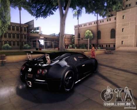 Bugatti Veyron Super Sport para GTA San Andreas vista traseira