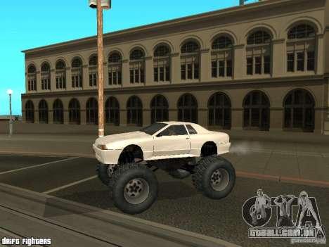 Elegy Monster para GTA San Andreas traseira esquerda vista