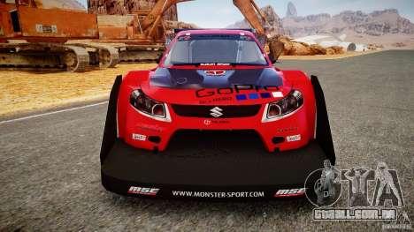 Suzuki Monster SX4 para GTA 4 vista de volta