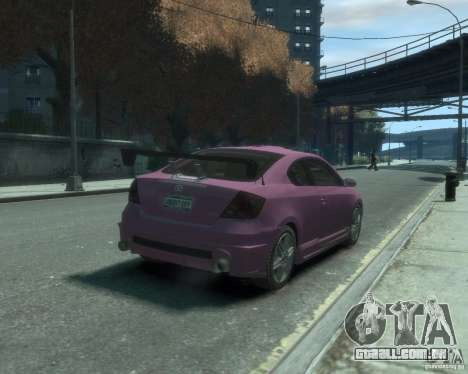 Toyota Scion Tc 2.4 para GTA 4 vista direita
