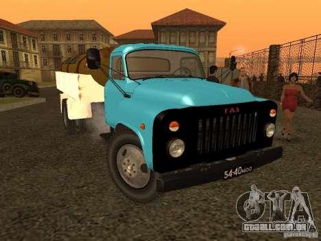 GAZ-53 tanque de leite para GTA San Andreas