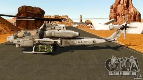 Bell AH-1Z Viper para GTA 4 esquerda vista