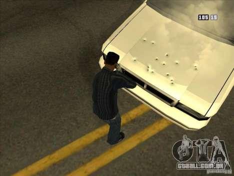 Buracos de balas para GTA San Andreas por diante tela