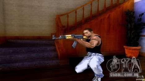 AK-47 para GTA San Andreas por diante tela