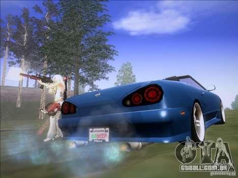 Elegy Cabrio Edition para GTA San Andreas traseira esquerda vista