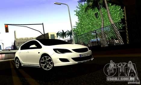 Opel Astra Senner para GTA San Andreas vista interior
