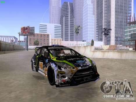 Ken Block Ford Fiesta 2012 para GTA San Andreas vista direita
