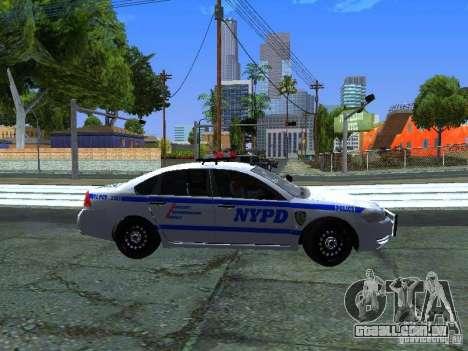 Chevrolet Impala NYPD para GTA San Andreas vista interior
