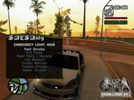 Emergency Lights para GTA San Andreas
