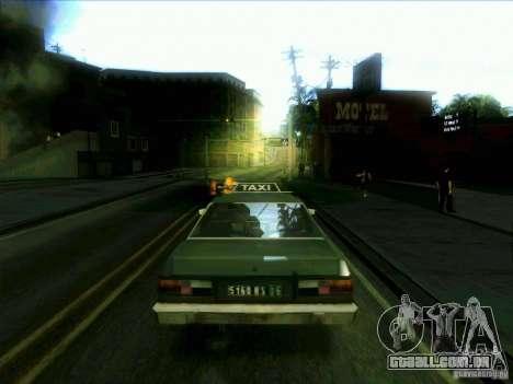 Um táxi do dri3r para GTA San Andreas traseira esquerda vista