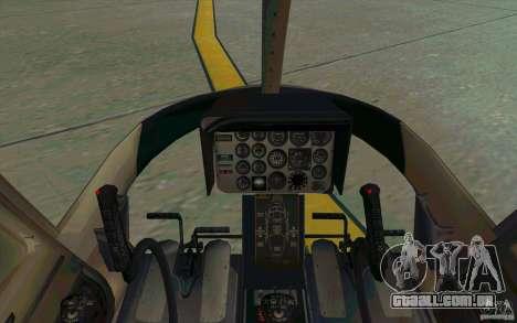 Bell 206 B Police texture2 para GTA San Andreas vista interior