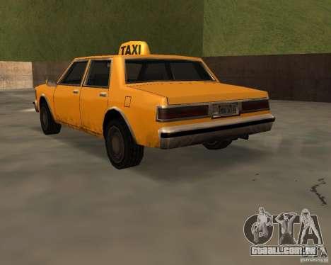 LV Taxi para GTA San Andreas esquerda vista