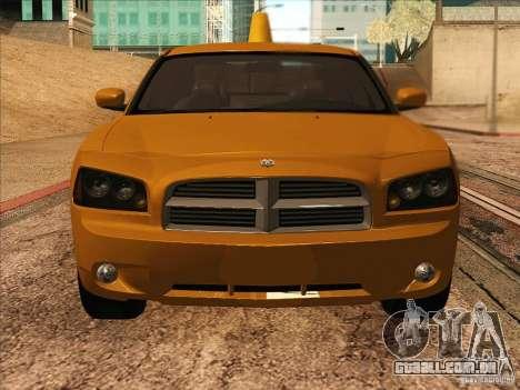 Dodge Charger STR8 Taxi para GTA San Andreas vista traseira