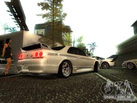 Nissan Skyline Nismo 400R para GTA San Andreas traseira esquerda vista