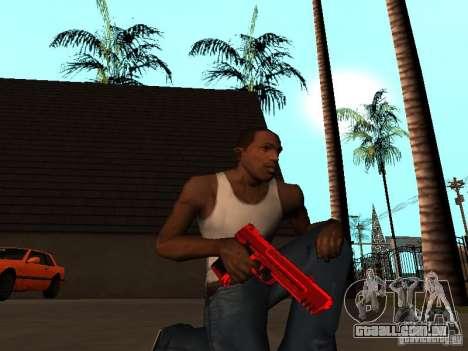 Red Chrome Weapon Pack para GTA San Andreas quinto tela