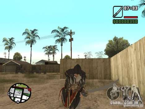Espada Ezio para GTA San Andreas por diante tela