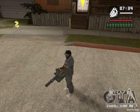 Hand Held M134 Minigun para GTA San Andreas