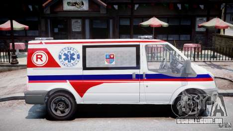 Ford Transit Polish Ambulance [ELS] para GTA 4 vista de volta