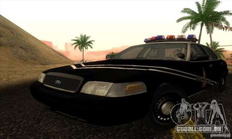 Ford Crown Victoria Idaho Police para GTA San Andreas