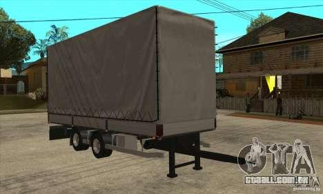 Trailer para GTA San Andreas traseira esquerda vista