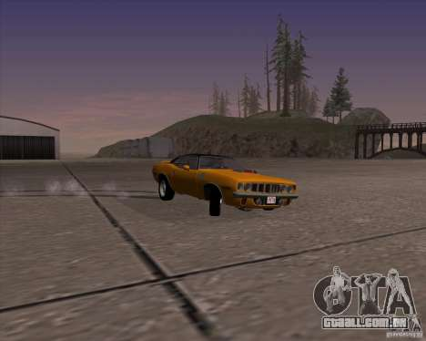 Plymouth Barracuda para GTA San Andreas vista traseira
