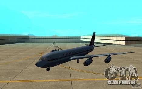 Qantas 707B para GTA San Andreas esquerda vista