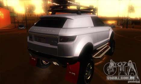 Land Rover Evoque para GTA San Andreas vista direita