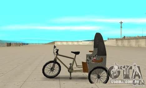 Manual Rickshaw v2 Skin1 para GTA San Andreas esquerda vista