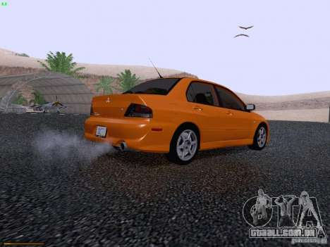 Mitsubishi Lancer Evolution VIII para GTA San Andreas vista traseira