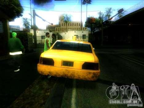 Sunrise Taxi para GTA San Andreas traseira esquerda vista