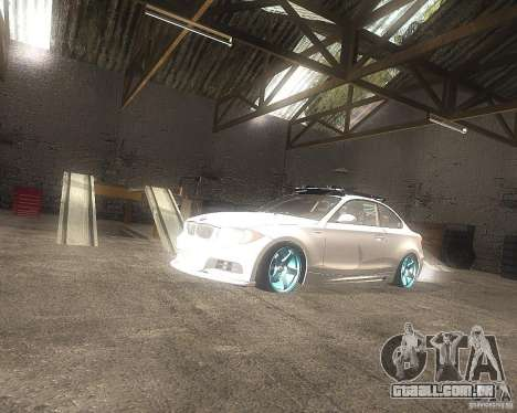 BMW 135i Hella Drift para GTA San Andreas vista direita