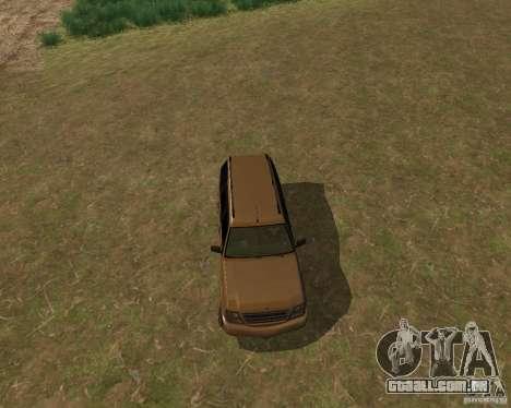 Cavalgada de GTA 4 para GTA San Andreas traseira esquerda vista