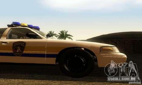 Ford Crown Victoria Puerto Rico Police para GTA San Andreas vista direita