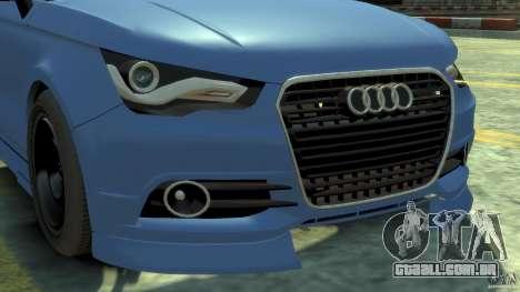 Audi A1 para GTA 4 vista de volta