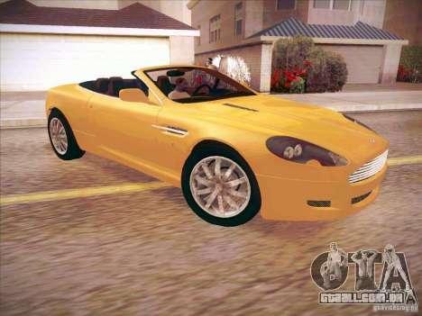 Aston Martin DB9 Volante v.1.0 para GTA San Andreas traseira esquerda vista