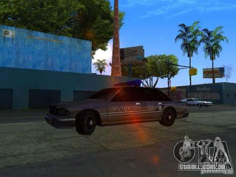 Lumpkin Country Sheriffs Office para GTA San Andreas esquerda vista