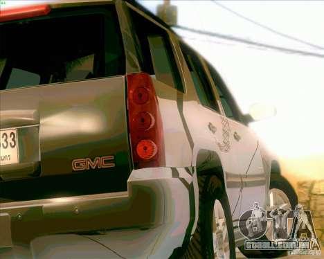 GMC Yukon Denali 2007 para GTA San Andreas vista direita