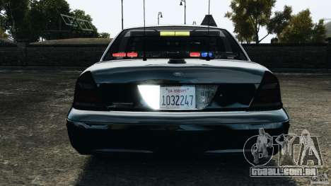Ford Crown Victoria Police Unit [ELS] para GTA 4 motor