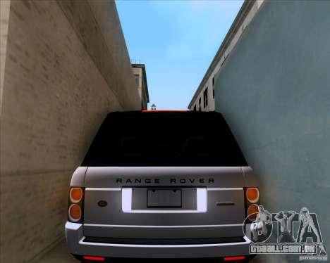 Range Rover Hamann Edition para GTA San Andreas vista superior