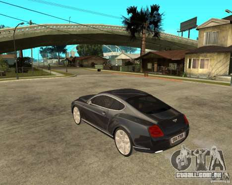 Bentley Continental GT para GTA San Andreas esquerda vista