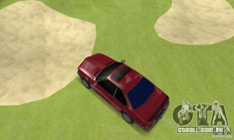 BMW M6 E24 stock para GTA San Andreas vista direita