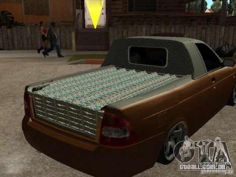 LADA 2170 Pickup para GTA San Andreas vista traseira