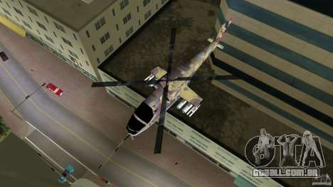 Mi-24 HindB para GTA Vice City vista traseira esquerda