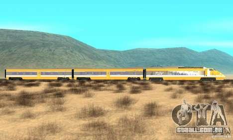 TGV SOUTH WEST para GTA San Andreas esquerda vista
