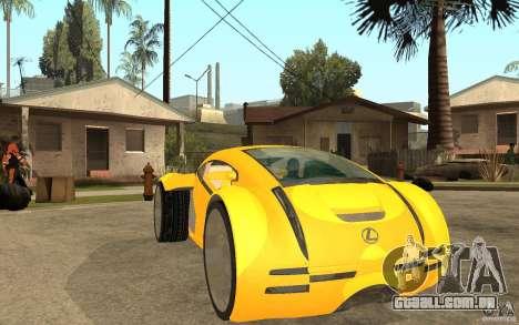 Lexus Concept 2045 para GTA San Andreas vista traseira