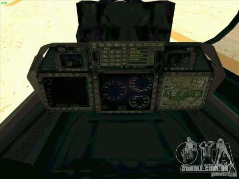F-14 Tomcat Razgriz para GTA San Andreas vista superior