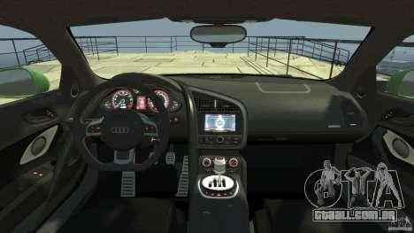 Audi R8 5.2 FSI quattro v1 para GTA 4 vista direita